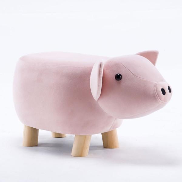 Tierhocker Schwein klein Stoff rosa