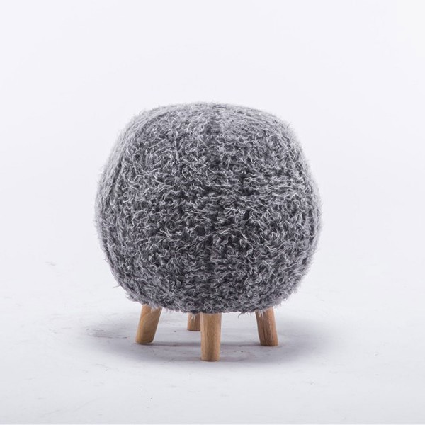 Spielhocker Ball Stoff grau
