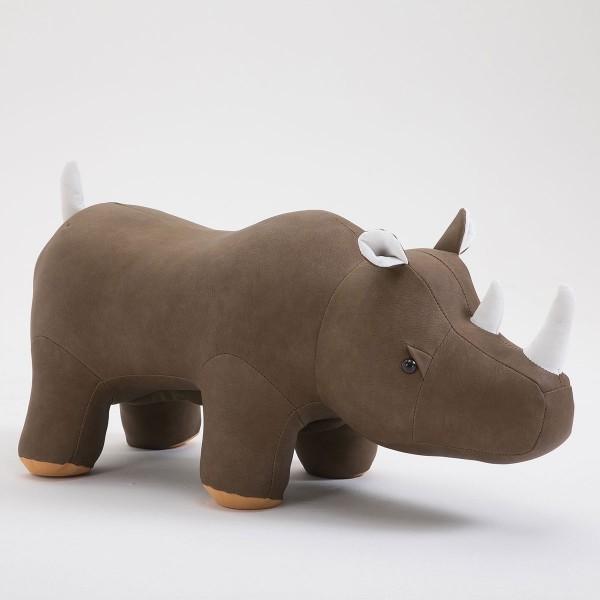 Tierhocker Nashorn Rhino Stoff khaki