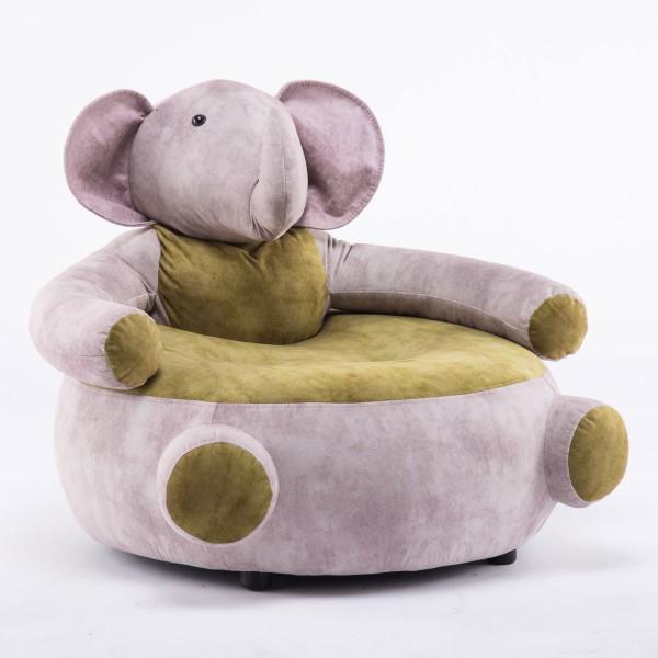 Tierhocker Elefant Stoff rosa beige