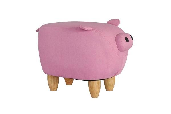 Tierhocker Schwein Piggy Stoff rosa